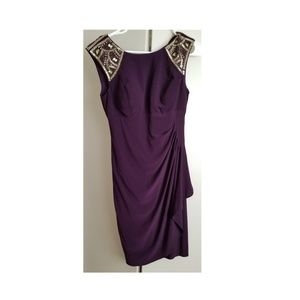 Dress with embroidered shoulders